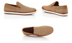 Solo Warren Men's Slip-On Sneakers - Camel - Size: 9