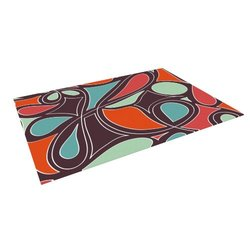 "Kess InHouse 8'x8' Miranda Mol ""Retro Swirl"" Indoor/Outdoor Floor Mat"