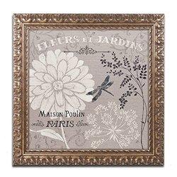 Trademark Fine Art French Linen Garden II Artwork by Daphne Brissonnet, 11 by 11-Inch