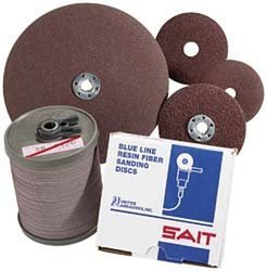 United Abrasives SAIT Fiber - 2A 9-1/8 X 7/8 24X Bulk Disc - 100 Pack