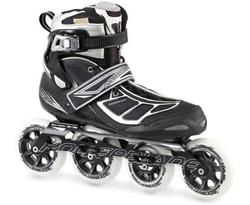 Rollerblade Men's Tempest 100 Performance Skates - Black/Silver - Size: 11