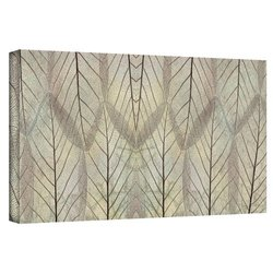 """Cora Niele's Leaf Design Gallery Wrapped Canvas - Size: 18' x 36"""""""