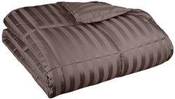 All Season Wide Stripes Down Alternative Comforter - Charcoal - Twin/Twin XL