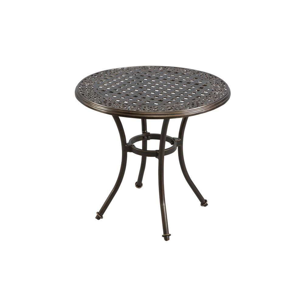 Hampton Bay Niles Park Inch Round Cast Top Patio Bistro Table - 30 inch round outdoor table