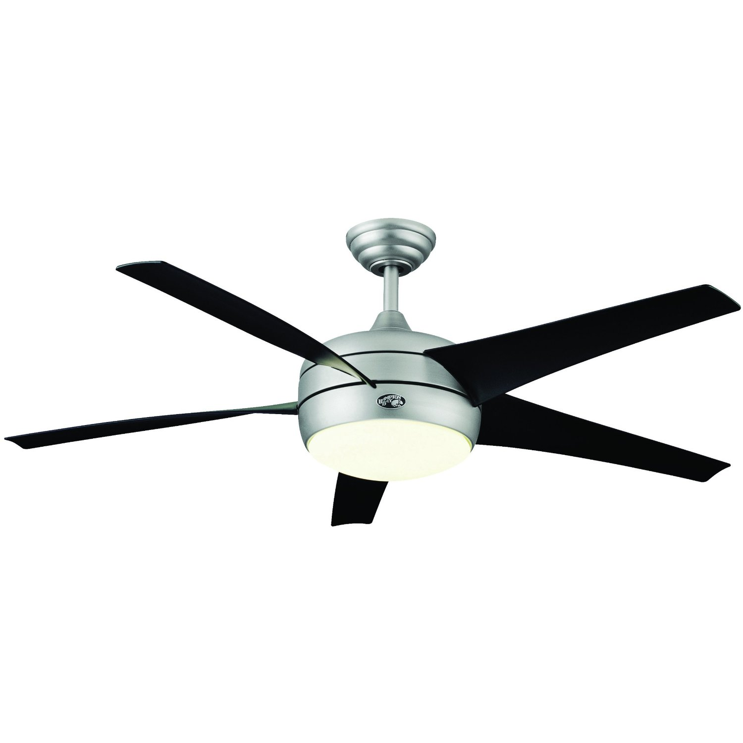 "Hampton Bay Windward II 54"" Ceiling Fan w Light Brushed Steel"