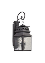 Elk Lighting Forged Lancaster 2 Light Wall Lantern - Charcoal - Size: 9""