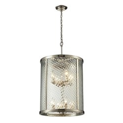 Elk Lighting Chandler 8-Light Pendant - Polished Nickel (31463/8)