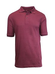 Harvic Men's Premium Quality Pique Polo - Burgundy - Size: 2XL