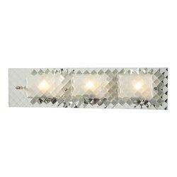 Elk Lighting 31416/3 Talmage Collection 3 Bath Light, Brushed Nickel