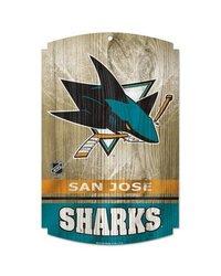 "NHL San Jose Sharks 11""x17"" Wooden Sign"
