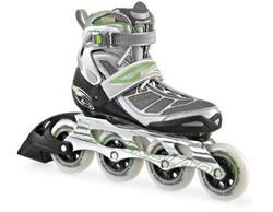 Rollerblade Women's Tempest 90 W Performance Skate, Silver/Green, 9