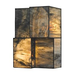 Elk Lighting 72070-2 Cubist Collection 2 Light Sconce - Brushed Nickel