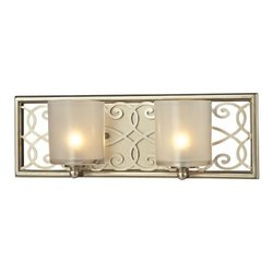Elk Lighting Santa Monica Collection 2 Bath Light - Aged Silver (31427/2)