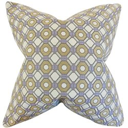 The Pillow Collection Wylie Geometric Pillow - Purple