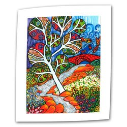 Art Wall Ruscello by Debra Purcell Unwrapped Canvas Art with 2-Inch Accent Border, 36 by 48-Inch