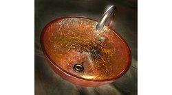 "JSG Oceana 16"" Vessel - Gold Reflections (005-003-101)"