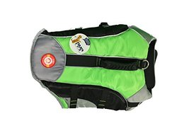 Protect Me Alert Series Pet Floatation Life Jacket, Large, Neon Green