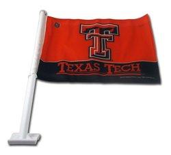 Rico NCAA Texas Tech Red Raiders Car Flag - Red