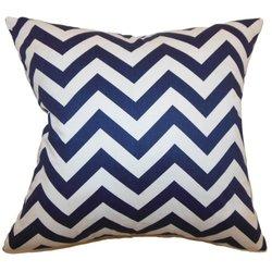 The Pillow Collection Xayabury Zigzag Pillow - Blue
