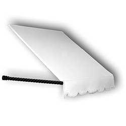 Awntech 3' Santa Fe Twisted Rope Arm Window Awning - Off-White