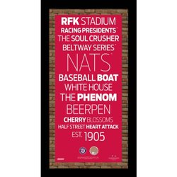 Steiner Sports MLB Washington Nationals Vintage Subway Sign Red
