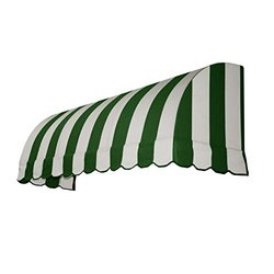 "Awntech? 4' Savannah? Window/Entry Awning, 31"" x 24"", Forest/White"
