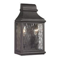 Elk Lighting Forged Jefferson Collection 2 Light Outdoor Sconce - Charcoal