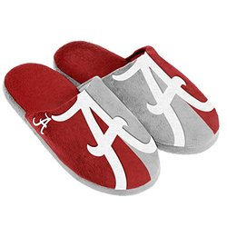 NCAA Alabama Crimson Tide Split Color Slide Slipper - Red - Size: Small