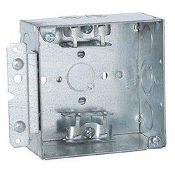 "Raco 248HWP 2-1/8"" Deep Square Electrical Box - 4"""