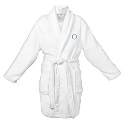 Cathy's Concepts Personalized Plush White Robe, Letter O