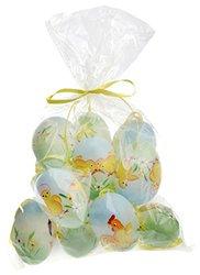 Boston International EA15006 12 Count Hand Painted Decorative Blue Egg Chicks, Multicolor