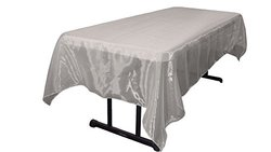 LA Linen Sheer Organza Rectangular Tablecloth - Grey