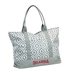 NCAA Oklahoma Women's Ikat Tote Bag