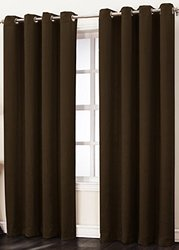 "Sun Zero Leighton Room Darkening Curtain Panel - Chocolate - Size: 50""x84"""