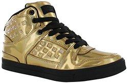Gotta Flurt Hip Hop HD III 3/4 Top Sneaker, Gold/Black, Size 10