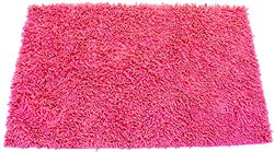 "FitDio Luxury Microfiber Chenille Bath Rug with Anti-Slip Base, 40 x 60"", Fuchsia"