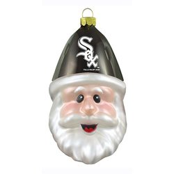 MLB Chicago White Sox Blown Glass Santa Cap Ornament