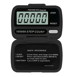 Ultrak 240 Step Counter Pedometer - Set of 12 - Black (240-12)