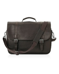Kenneth Cole New York Leather Gusset Flapover Portfolio for MacBook