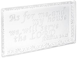 Fifth Avenue Inspiration Glass Tray - Serve The Lord