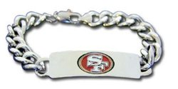 San Francisco 49ers ID Bracelet - Size: Small