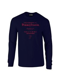 SDI NCAA Stacked Vintage Long Sleeve Men's T Shirt - Navy - Size: X-Large
