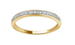 Brilliant Diamond 10K Round Diamond Accent Band - Yellow Gold - Size: 6