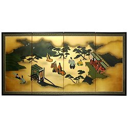 """Oriental Furniture 36"""" From Heaven Above on Gold Leaf"""