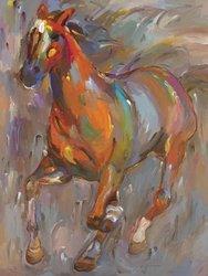 Barewalls Stellar Steed by Hooshang Khorasani Canvas Art - 24 x 18-Inch