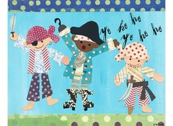 "Oopsy Daisy Pirate Boys Stretched Canvas Wall Art - 30"" by 24"""