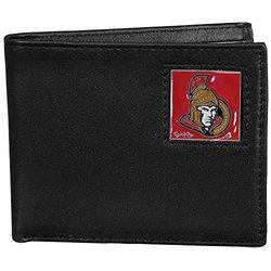 NHL Ottawa Senators Leather Bi-Fold Wallet - Black