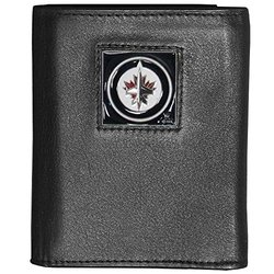 Siskiyou NHL Winnipeg Jets Leather Wallet Packaged in Gift Box - Black