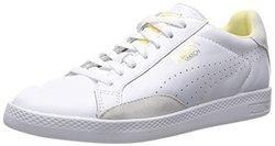 Puma Women's Match Lo Basic Sports Sneaker - White/Yellow - Size: 8.5B