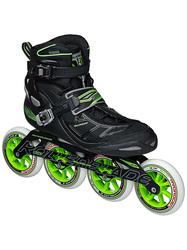 Rollerblade Men's Tempest 110 Performance Skate - Black/Green - Size: 11